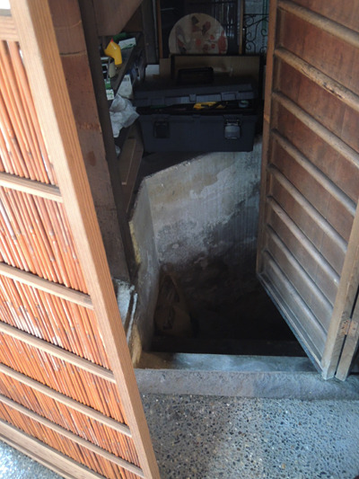 京都・宮川町の町家cafe ろじうさぎ-防空壕