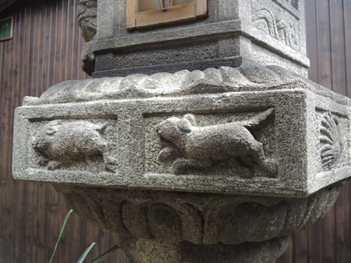 京都・宮川町の町家cafe ろじうさぎ-灯籠1